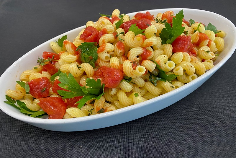 Pasta with Stewed Tomatoes